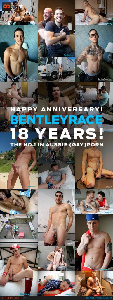 The Bentley Race 18th birthday celebrated with Queerclick the best porn blog on the internet